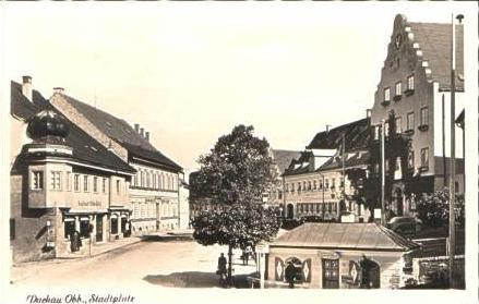 Dachau v.1952 Kaufhaus & Stadtplatz (16644)