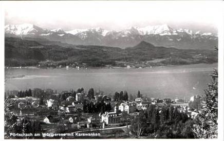 Pörtschach v.1955 Teil-Stadt-Ansicht (16827)