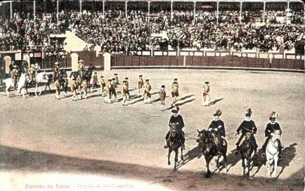 Corrida de Toros v.1918 Stierkämpfer ziehen (16841)