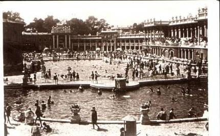 Budapest v.1928 Heilquellen Strandbad (16862)