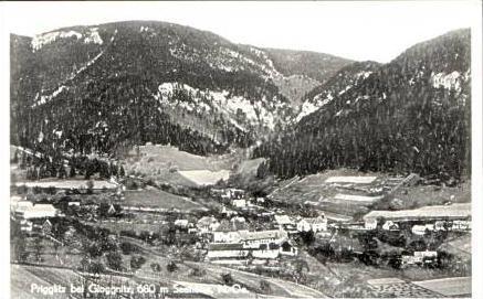 Prigglitz v.1955 Dorfansicht (16882)