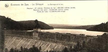 Environs de Spa v.1915 Sperrmauer (16943)