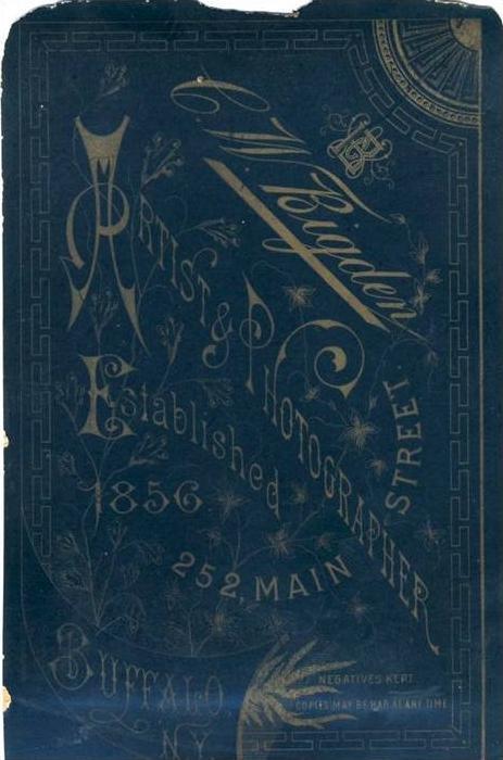 G.W. Bigden,252 Main Street.,Buffalo,N.Y.  (19)