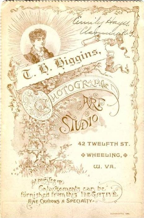 T.H. Higgins,42 Twelfth Street,Wheeling, W. Va., USA  (17)
