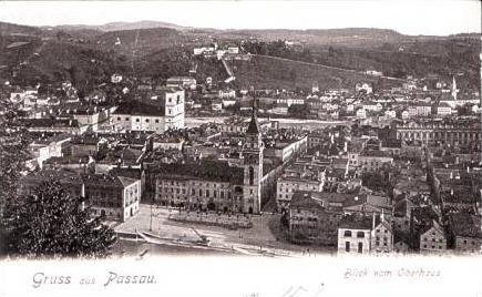 G. a. Passau v.1903 Blick vom Oberhaus (15035)