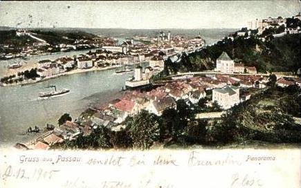 G. a. Passau v.1905 Teil-Stadt-Ansicht (15037)