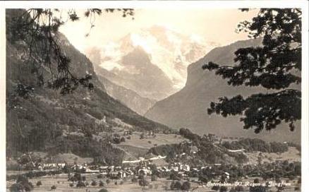 Interlaken v.1933 Stadtansicht (14966)