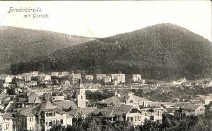 Friedrichroda v.1910 Teil-Stadt-Ansich .(14855)