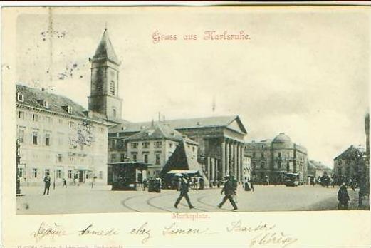 G. a. Karlsruhe v.1902 Marktplatz (21545)