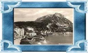 Brunnen v.1941 Teil-Stadt & Schiff .(10351)
