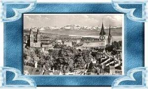 Zürich v.1935 Teil-Stadt-Ansicht (10382)