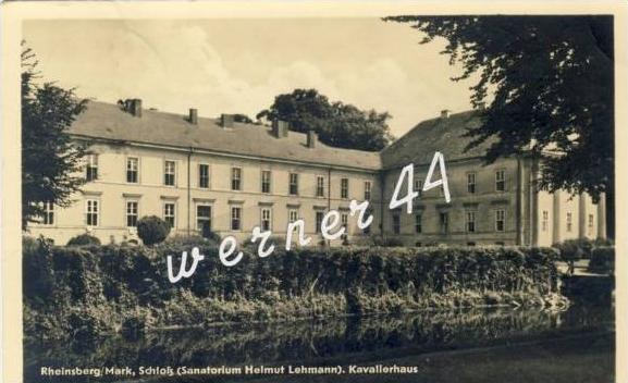 Rheinsberg von 1955 Schloß (S.H. Lehmann) (21347)