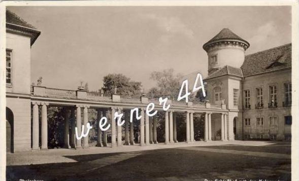 Rheinsberg von 1936 Schloßhof mit Kolonaden (21348)