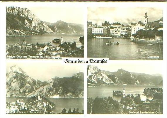 Gmunden v.1958 4 Ansichten .(21081)