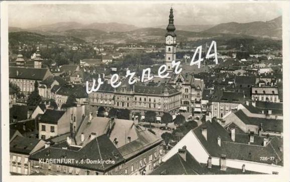 Klagenfurt v.1943 Teil-Stadt-Ansicht (2641)