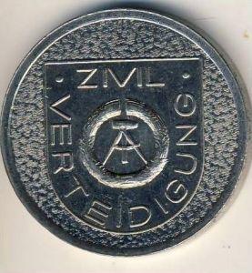 DDR MEDAILLE 30 JAHRE ZIVILVERTEIDIGUNG 1958-1988  (54002)