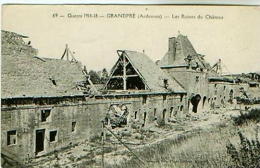 Grandpre v.1914 Les Ruines du Chateau (19999-10)