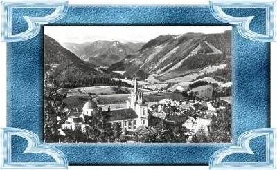 Mariazell v.1963 Teil-Stadt-Ansicht (9885)