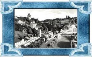 Fribourg v.1962 Teil-Stadt-Ansicht .(10538)