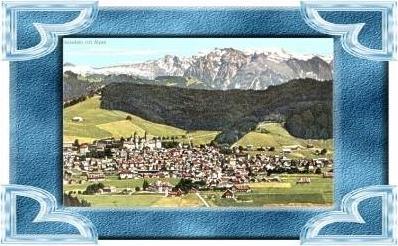 Einsiedeln v.1957 Stadtansicht mit (10599-032)