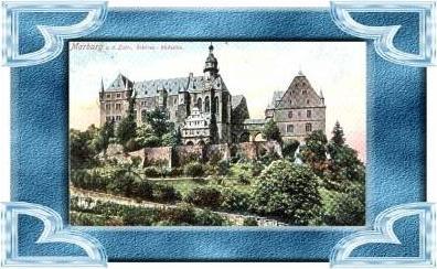 Marburg v. 1930  Teil-Stadt-Ansicht  (10606)