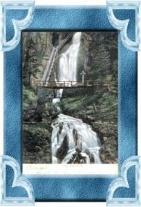 Mariazell v. 1907  Wasserfall-Zum toten Weib mit Kreuz  (10611)