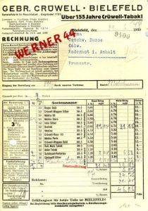 Bielefeld v. 1947 Gebr. Crüwell - TABAK (160)