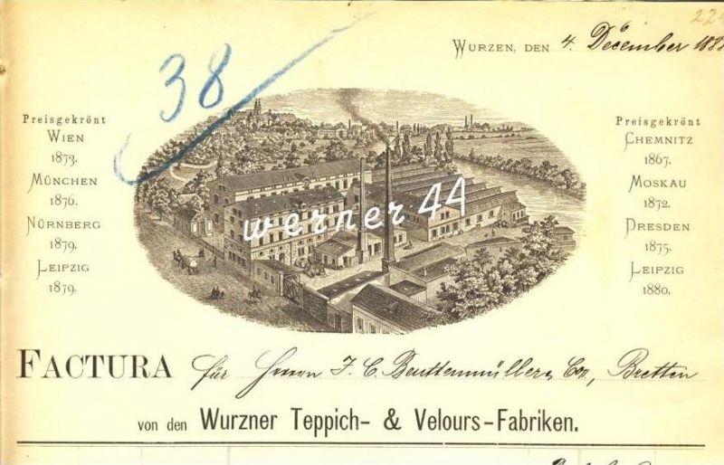 Wurzen v. 1888 Teppich & Velours Fabriken (225)