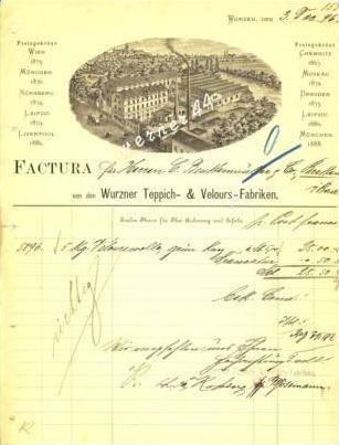 Wurzen v. 1896 Teppich & Velours Fabriken (  226)