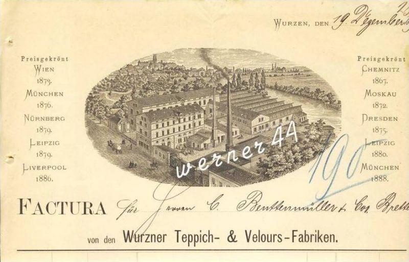 Wurzen v. 1892 Teppich & Velours Fabriken ( 227)