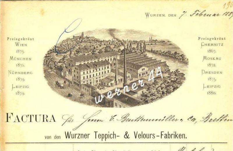 Wurzen v. 1889 Teppich & Velours Fabriken ( 229)