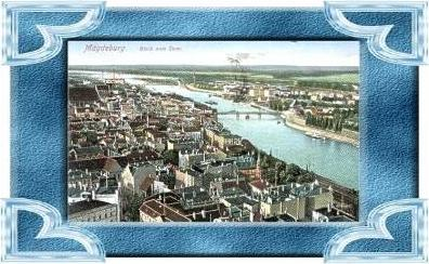 Magdeburg v. 1919   Teil-Stadt-Ansicht  (10699-01 )
