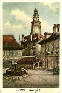 Krumau v. 1936 Gardeplatz (24910)