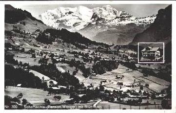 Scharnachtal v.1944 Dorf & Pension (3716)