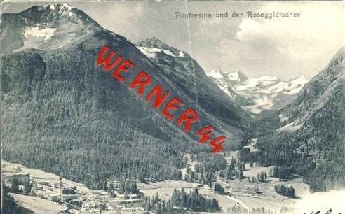 Pontresina v. 1903 Dorf & Roseggletscher  (27419)