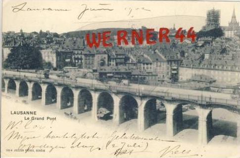 Lausanne v. 1902  Le Grand Pont  (27428)