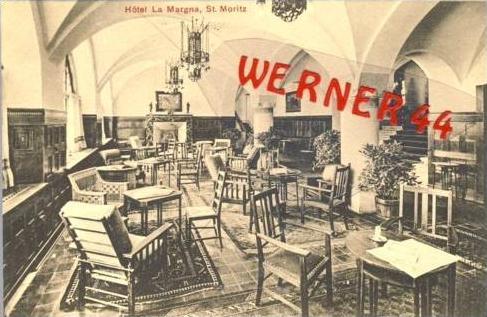 St. Moritz v. 1908  Hotel La Margna  (27429)