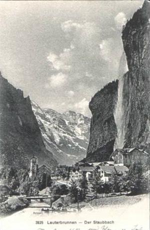 Lauterbrunnen v.1911 Dorfansicht (15291)