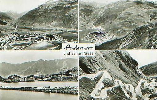 Andermatt v.1966 4 Pässe .(17720)
