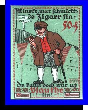 Städte Kleingeldscheine --- Banknoten während der Inflationszeit v. 1921  50 Pfennig - Satz  GUTSCHEIN (N088)