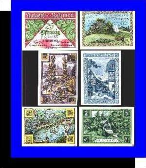 Städte Kleingeldscheine --- Banknoten während der Inflationszeit v. 1921  2x25, 4 x50 Pfennig - Satz  NOTGELD (N087)