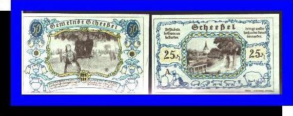 Städte Kleingeldscheine --- Banknoten während der Inflationszeit v. 1921  25, 50 Pfennig - Satz  NOTGELD (N084)