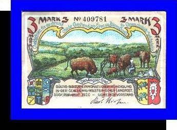 Städte Kleingeldscheine --- Banknoten während der Inflationszeit v. 1920  3 Mark - Satz  NOTGELD (N080)