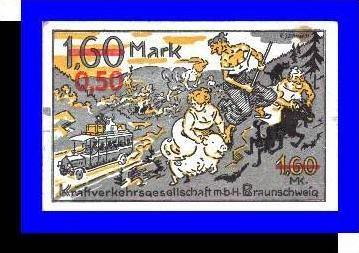 Städte Kleingeldscheine --- Banknoten während der Inflationszeit v. 1920  0,50 Mark - Satz  NOTGELD (N078)