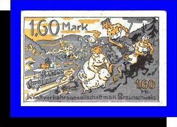 Städte Kleingeldscheine --- Banknoten während der Inflationszeit v. 1920  1,60 Mark - Satz  NOTGELD (N077)