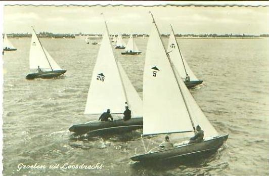 Groeten uit Loosdrecht v.1958 Schiffe .(20069)