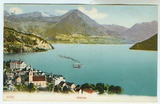 Vitznau v.1910 Teil-Stadt-Ansicht (22157)