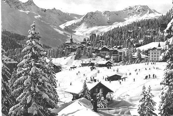 Arosa von 1956 Dorfansicht im Winter (22606)