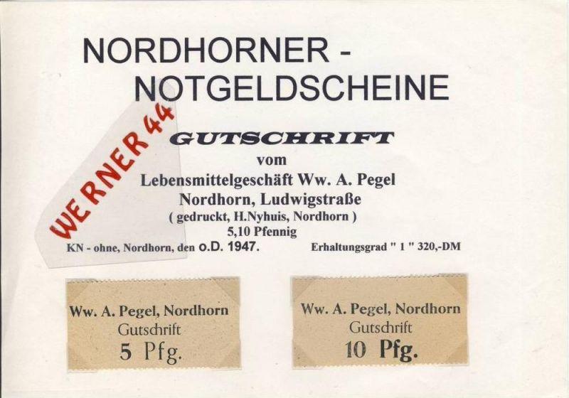 Städte Notgeldscheine -  v. 1947 Nordhorn 5,10 Pfg.