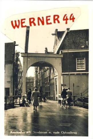 Amsterdam v. 1936 Staalstraat m. oude Ophaalbrug  (23740)